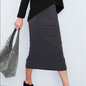 EILEEN FISHER Cozy TENCELFold-over Skirt Charcoal